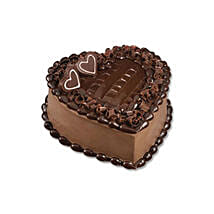 Chocolate Heart Cake: Gift Delivery in Turkey