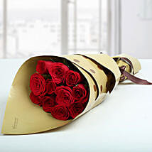 1 Dozen Love Red Roses Bunch: Same Day Anniversary Flower Bouquets in UAE