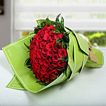 100 Red Roses Bunch: Valentine's Day Flower Bouquets UAE