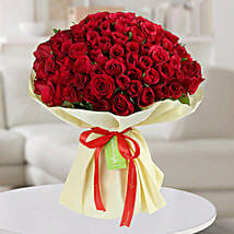 150 Red Roses Bunch: Birthday Flower Bouquets to UAE