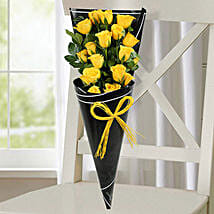 18 Yellow Roses Bunch: Anniversary Bouquet to UAE