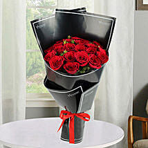 2 Dozen Red Roses Bunch: Birthday Flower Bouquets to UAE