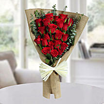 22 Red Roses Bunch: Birthday Flower Bouquets to UAE