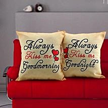 Always Kiss Me Cushions: Valentines Day Gifts for Him
