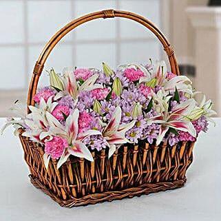Attractive Flowers Basket:
