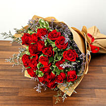 Bouquet Of 20 Red Roses: Valentine's Day Rose Delivery in UAE