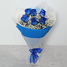 Bouquet Of Blue Roses: Send Anniversary Flowers to UAE