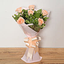 Bouquet Of Peach Roses: Send Flower Bouquets to UAE