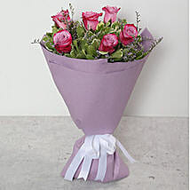 Bouquet Of Purple Roses: Birthday Bouquets for UAE