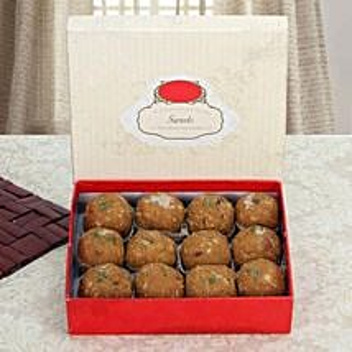 Box of Dry Fruit Besan Laddoo: Diwali Sweets to UAE
