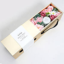 Candle and Artificial Flowers Pink and White: New Arrival Gifts to UAE