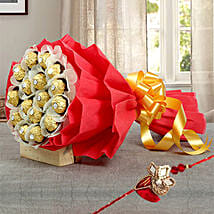 Chocolate bouquet with Rakhi: Rakhi - Guaranteed Delivery Collection For UAE
