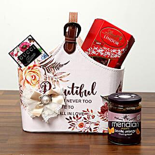 Chocolates With Designer Ladies Bag: Send Valentines Day Chocolates to UAE