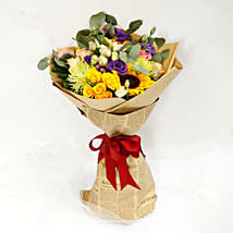Colourful Mixed Flower Bouquet: Anniversary Gifts to UAE
