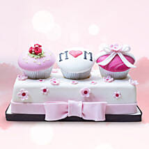 Customized Assorted Cupcakes 3 Pcs: Mother's Day Gifts to Dubai