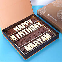 Customized Happy Birthday Chocolate: Birthday Gift Delivery in UAE