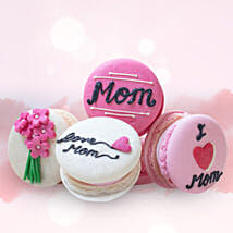 Customized Macaroons 4 Pcs: Send Mother's Day Gifts to Dubai