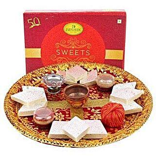 Deepavali Pooja Thali: Diwali Sweets Abu Dhabi