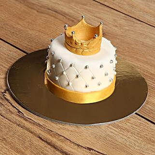 Designer Crowned Mono Cake: Cake Delivery in Abu Dhabi