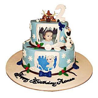 Elsa theme Cake: Send Photo Cakes to UAE