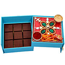 Ethnic Raksha Bandhan Box: Rakhi With Chocolates to Dubai