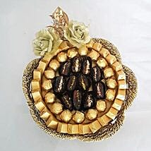 Golden Chocolates and Dates Basket: Diwali Gift Delivery in Dubai UAE