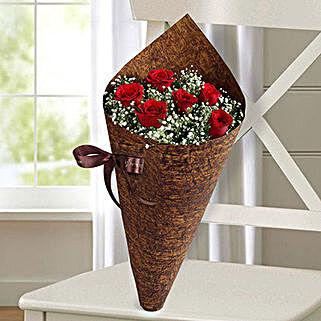 Half Dozen Roses Bunch: Flower Bouquets to UAE