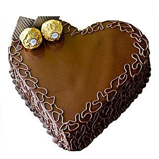 Heart Choco Cake: Valentine's Day Cakes to UAE