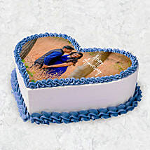 Heart Shaped Photo Cake 10 Pax: Photo Cake Delivery in UAE