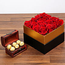 Idyllic Red Roses and Chocolates: Birthday Gift Delivery in UAE