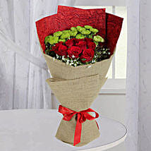 Love Red Roses Bunch: Same Day Anniversary Flower Bouquets in UAE