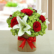 Lovely Roses N Hydrangea Arrangement: New Arrival Gifts to UAE