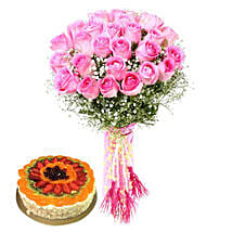 Luxurious Combo: Birthday Flowers and Cakes to UAE