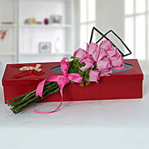 Mesmeric Pink Roses Bouquet: Birthday Flower Bouquets to UAE