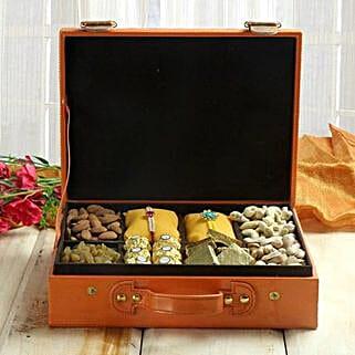 Nutritious Dryfruit Hamper: Set of 2 Rakhi to UAE