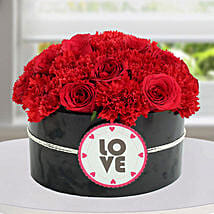 Passionate Red Flower Arrangement: Valentine's Day Roses to UAE