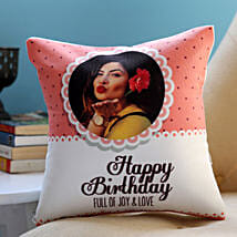 Personalised Joy and Love Birthday Cushion: Birthday Gift Delivery in UAE