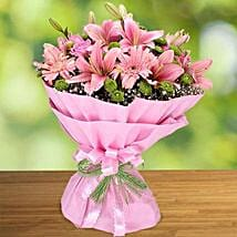 Pink Beauty: Same Day Flowers for Wife in UAE