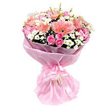Pink n Pretty: Same Day Bouquet in Abu Dhabi