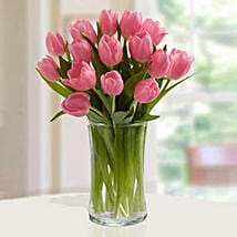 Pink Tulips Arrangement: Send Mother's Day Gifts to UAE