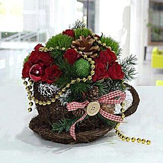 Pleasant Christmas Flower Arrangement: Christmas Gifts to UAE