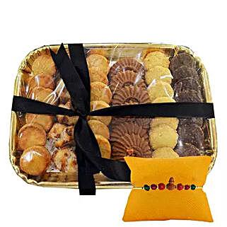 Rakhi with Biscuit Platter: Rakhi Delivery in Sharjah