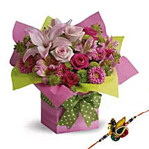 Rakhi with Box Arrangement: Rakhi Delivery in Al Ain