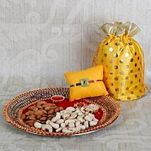 Rakhi With Crunchy Dry Fruits: Rakhi with Dry Fruits to UAE