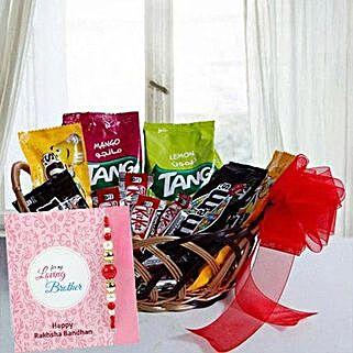 Rakhi with Gift Basket: Send Rakhi to Sharjah