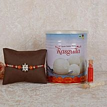 Rasgulla And Designer Rakhi Combo: Rakhi Delivery in Sharjah