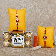 Rocher Special Rakhi Combo: Send Rakhi to Sharjah