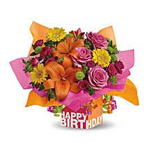 Rosy Birthday Present: Same Day Flowers for Wife in UAE