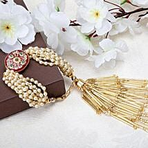 Sequinned Lumba Rakhi: Rakhi Delivery in Al Ain