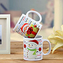 Set Of 2 Printed Mugs: Christmas Gift Delivery in UAE
